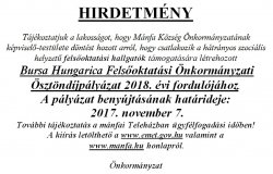 Bursa Hungarica Ösztöndíjpályázat 2018.