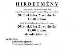 Alakuló ülés 2019. október 21-én!